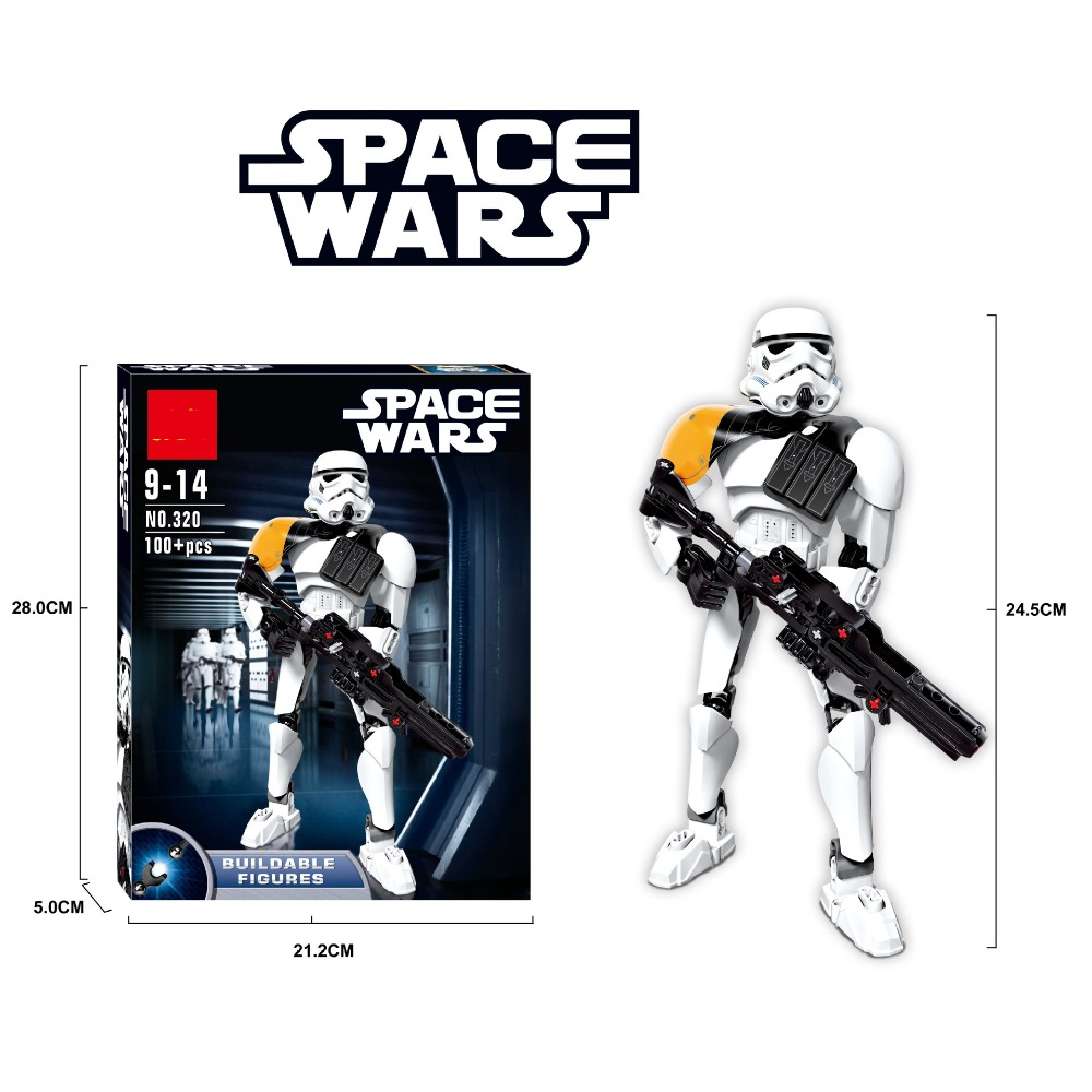 Star Wars Stormtrooper Commander Model Building Blocks Compatible with Legoe Starwars Action Figure Buildable Toys For Children