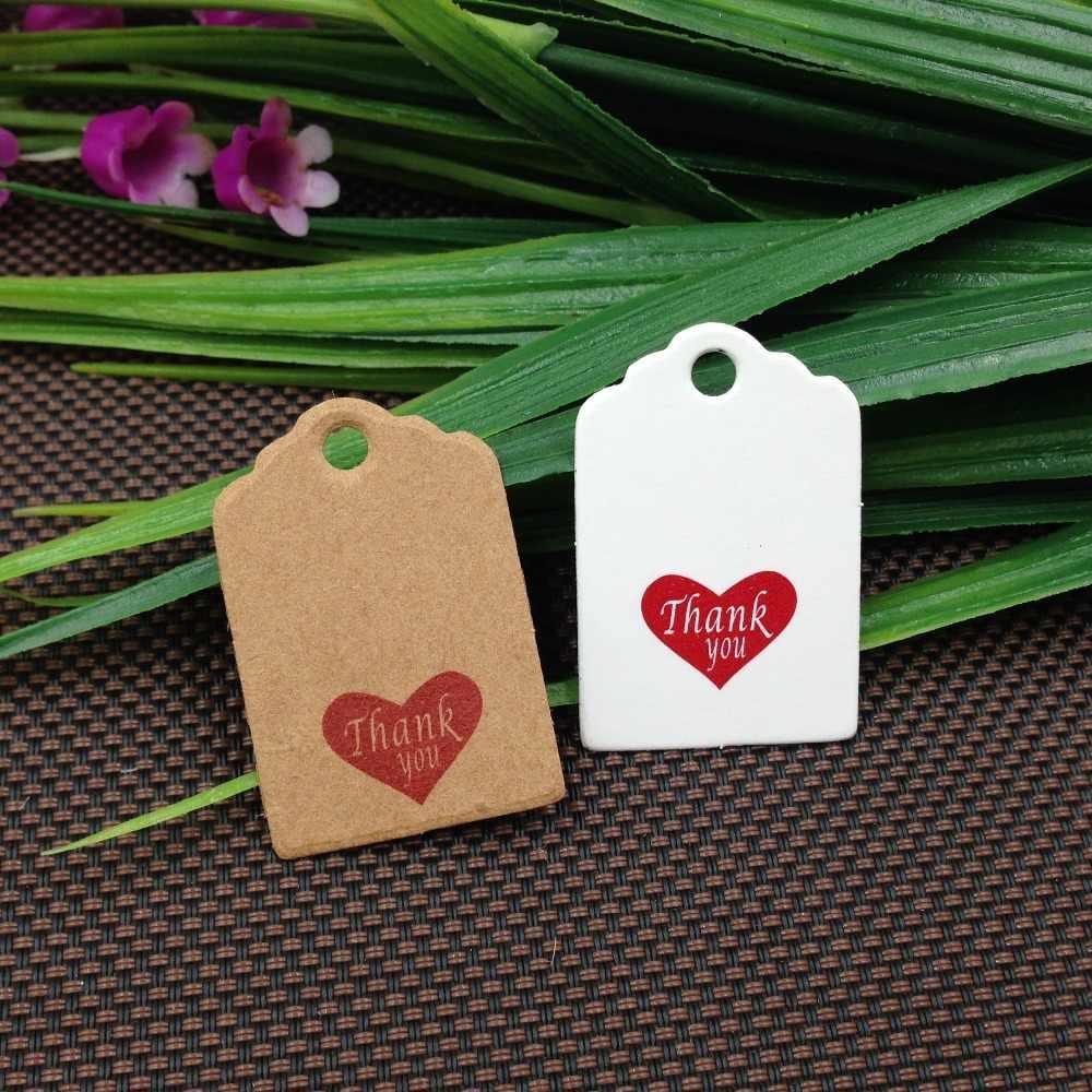100 ชิ้น 30*20 มิลลิเมตรกระดาษขนาดเล็ก Handmade With Love เครื่องประดับบรรจุภัณฑ์ป้ายงานแต่งงาน/วันเกิดของขวัญ Hang Tags หมายเหตุผลิตภัณฑ์ราคาหมวดหมู่