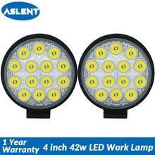 Aslent 4 inch 42W 4200lm Round Led Work Light Bar Spot font b lamp b font