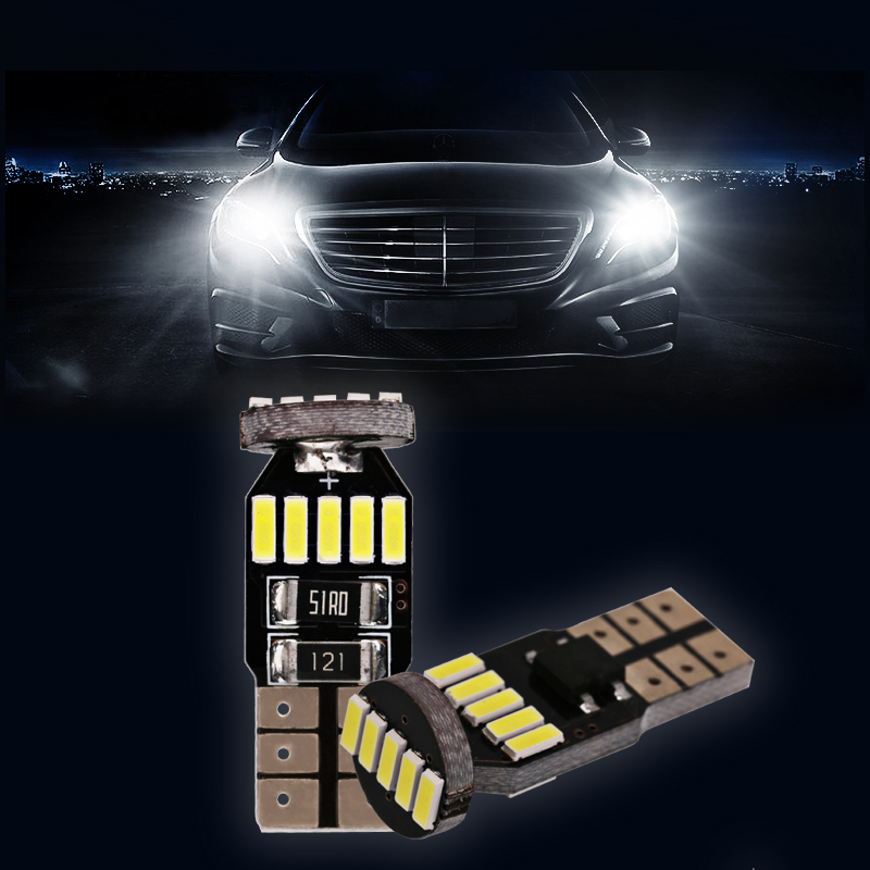 4x Canbus Car Auto Lamp LED T10 W5W 4014 SMD Bulb Side Parking Clearance Light For CITROEN C4 C5 C3 C2 Berlingo Xsara Saxo 2x t10 led w5w car led auto lamp 12v clearance parking light bulbs with projector lens for mercedes benz w203 glk r ml w204 c e