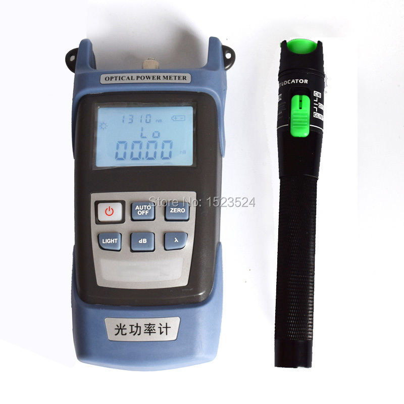 High Precision -70~+10dBm Handheld Fiber Optical Power Meter + Visual Fault Locator 20mwHigh Precision -70~+10dBm Handheld Fiber Optical Power Meter + Visual Fault Locator 20mw
