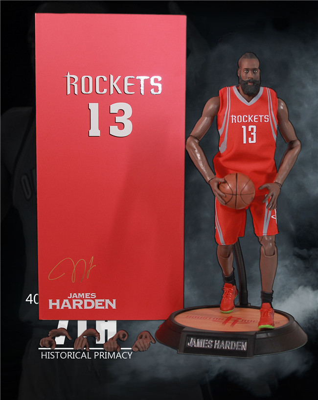 Basketball Player all star rockets NO.13 james harden joint movable 41cm 1/6 Action Figure Collectible Model toys giftsBasketball Player all star rockets NO.13 james harden joint movable 41cm 1/6 Action Figure Collectible Model toys gifts