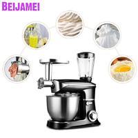 Beijamei Ekmek hamur karıştırıcı Yoğurma Yumurta Blender 6.5L mutfak standı Gıda Milkshake/Kek Karıştırma Makinesi kıyma sıkacağı