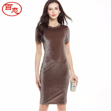 2017 autumn women evening party dress designer plus size maxi velvet dress sexy office dresses vestidos cheap clothes china 767