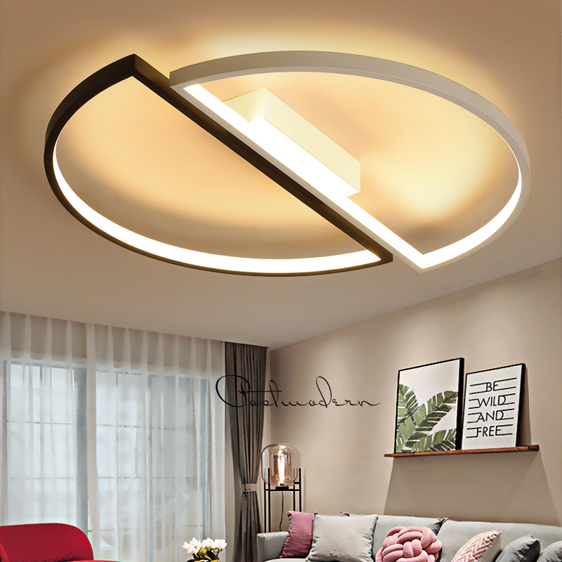 modern led ceiling lights For Living room dining room bedroom warm creative study personality simple round