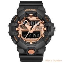 24ce6c2fee8 Smael Militar Relógios Réplicas de Relógios de Luxo Homens Esportes Da  Forma do Relógio Dupla Afixação. 15 Cores Disponíveis