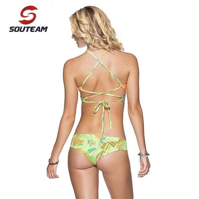 SOUTEAM Brand bikini 2017 New Arrival Bikini Women Hot Summer Swimsuit Bikini Set Femme Swimsuit Women Swimwear #SYB7256