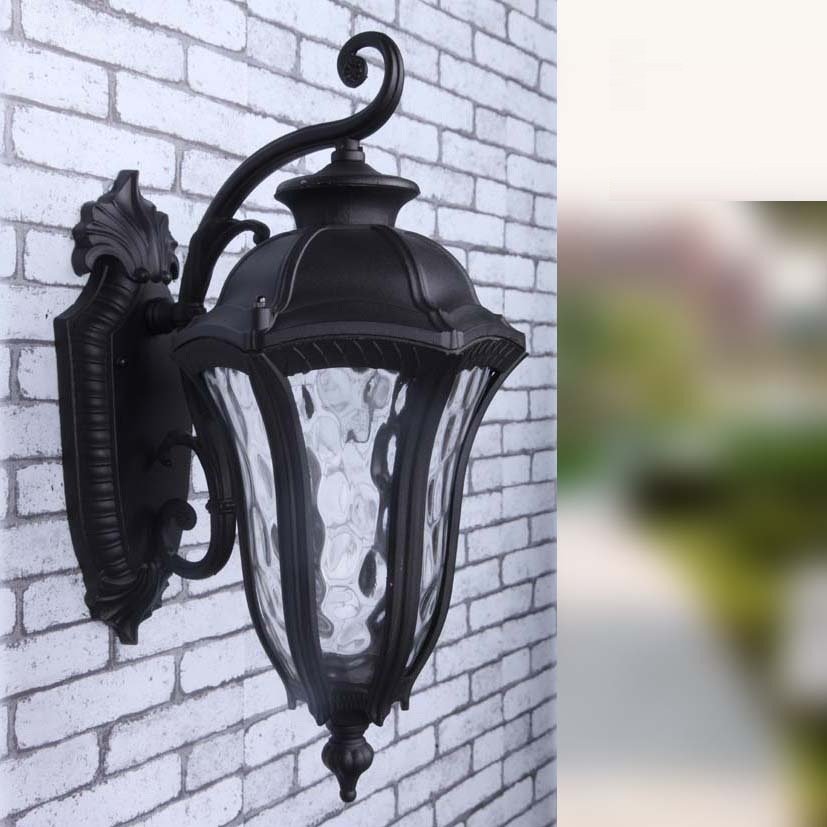 European LED lamp Aluminum Wall Light Outdoor Wall Sconce Lighting Waterproof Garden Porch Lights Fixtures Lamparas Pared retro outdoor wall sconce lighting balcony led wall lamp waterproof garden wall light fixtures metal glass porch lights