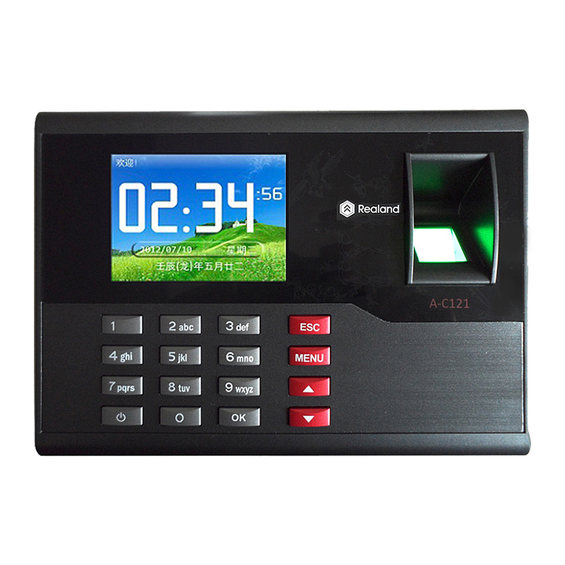 A-C121 Fingerprint time attendance with RFID card reader And Free Software 2.8 inch Realand TCP/IP fingerprint lock on sale a c030t fingerprint time attendance clock id card tcp ip usb