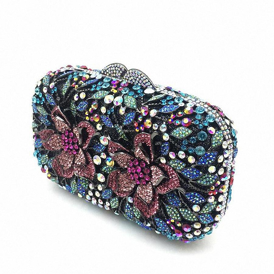 D'embrayage Artisanat Ovale Cristal Partie Soirée Diamante Li Sacs De À Bourse 1573 Main Colorful Luxe Femmes qxqwXrtH