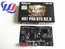 1 años de garantía 100% Nuevo En caja ASRock H81 Pro BTC ETH LGA 1150 DDR3 Placa Base i7 i5 i3 para Xeon Pentium Celeron
