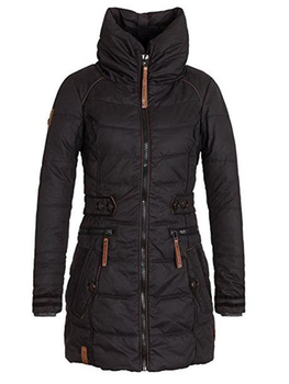 Outerwear solid hooded Slim Coats