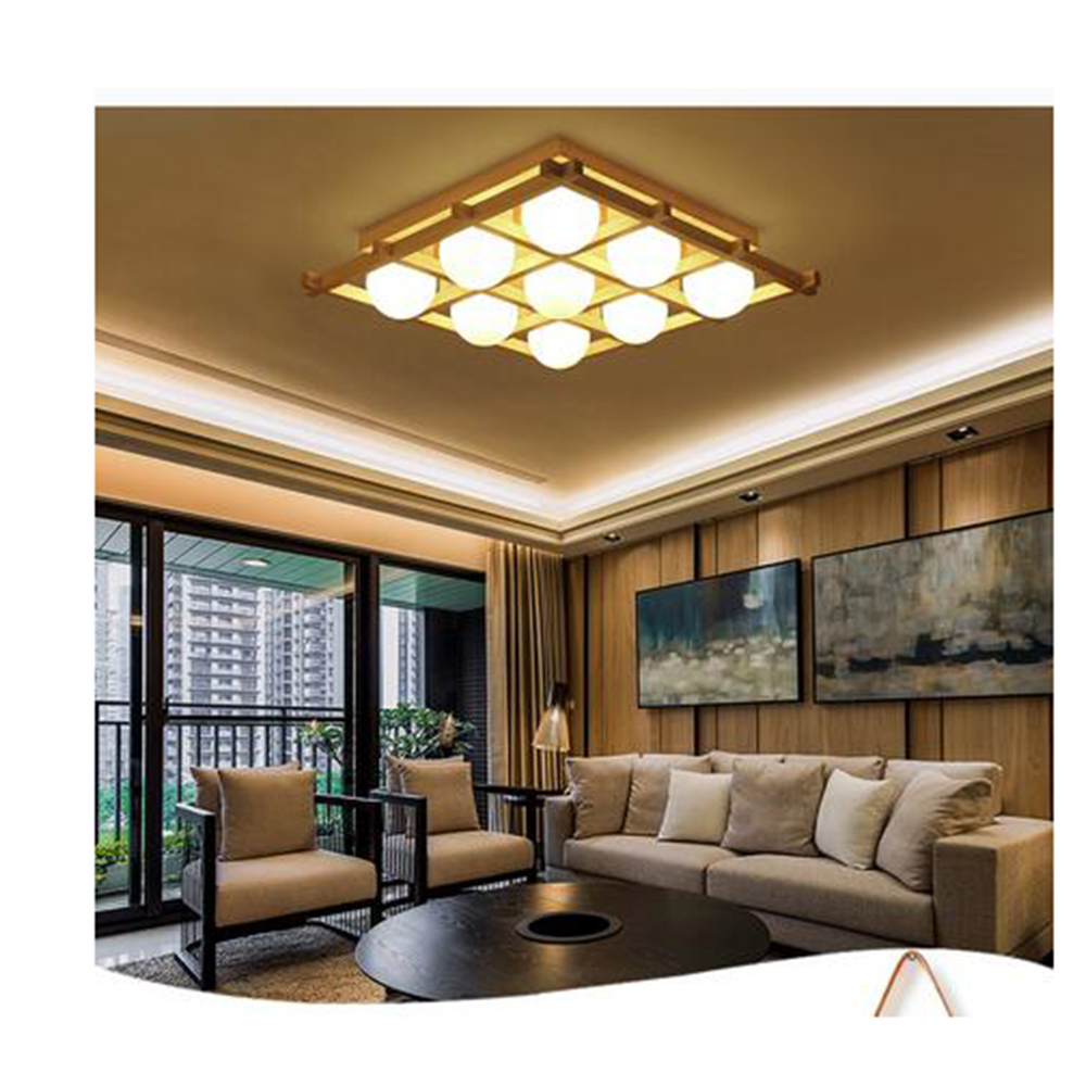 Japanese Tatami Led Ceiling Lamp Bedroom Ultra Thin: Simple LED Solid Wood Ceiling Lights New Chinese Tatami