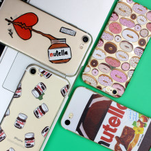 Nutella Heart Case For iPhone 5 5S 6 6S 7 Plus Cases Donuts For Samsung Galaxy S3 S6 S7 Edge S8 Plus J5 A5 2016 Grand Prime Case(China)