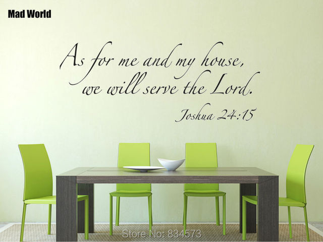 Mad World As For Me My House Bible Verse Wall Art Stickers Decal