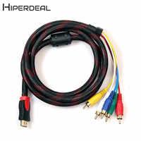 HIPERDEAL nuevo 5ft HDMI a 5RCA hombre de Audio y Video cable de conversión de componentes de 1,5 M para HDTV 1080P 18Feb05 de la nave de la gota F