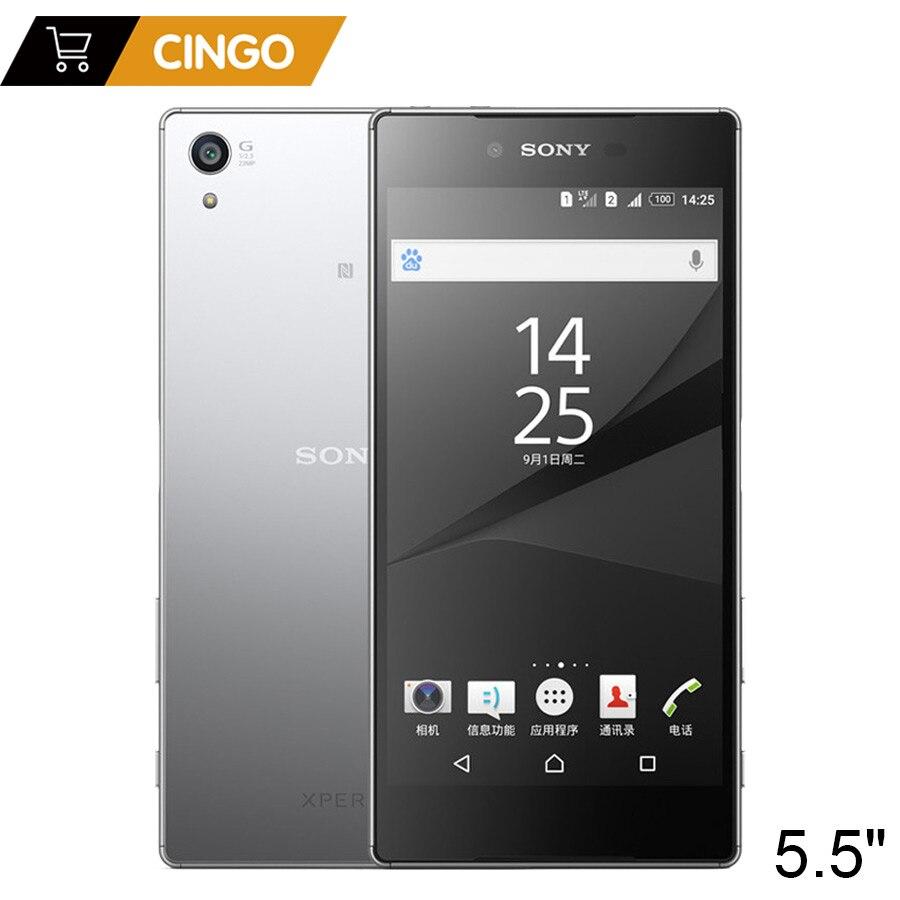 Sony Xperia Z5 Premium E6883, две sim карты, 3 Гб ОЗУ, 32 Гб ПЗУ, 5,5 дюймов, Android, четыре ядра, ips, 23 МП, Оригинальный разблокированный мобильный телефон GSM LTE