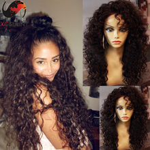 6A grade virgin human hair Malaysia Hair curly  hairstyle full lace wigs curly front lace wigs for blank woman