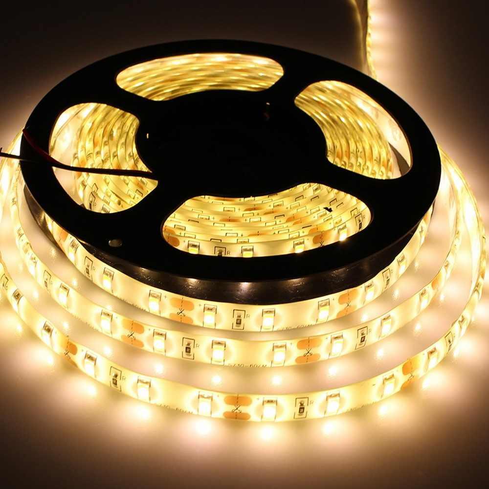 BOLEDENGYE 5 M Tahan Air Strip DIPIMPIN SMD 5630 Super Terang Fleksibel Dioda Pita Pita Putih Hangat Putih Untuk Lemari Dapur cahaya