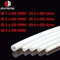 ptfe тефлоновая трубка1 метр 1 мм 2 мм 3 мм 4 мм 6 мм 8 мм   для 3д принтера Запчасти белые трубы Боуден j-глава 3d принтер экструдер - фото