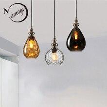 Loft w stylu nordyckim art deco szklany wisiorek światła LED E27 vintage nowoczesne wiszące lampa do sypialni restauracja salon kuchnia hotel