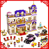 BELA 10547 Friends Series Heartlake Grand Hotel 1585Pcs Building Block Compatible Legoe Toys For Children