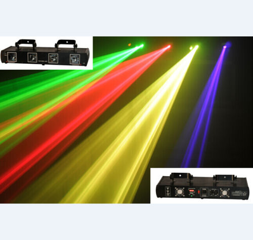 Quad Aperture DMX RGYP Laser Lighting Projector ProSound And Stage Lighting  Show Lasers For DJs And