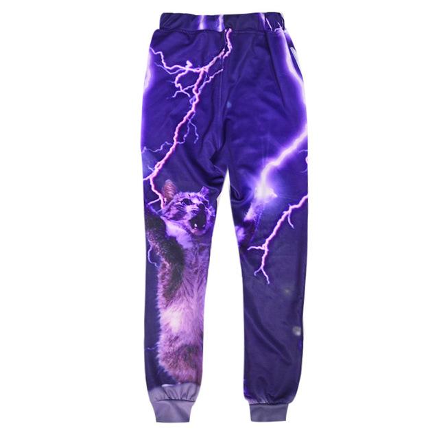 Primavera Otoño Ropa para hombre pantalones de Hip Hop Danza pantalones galaxy Trueno ocasional mens joggers pantalones