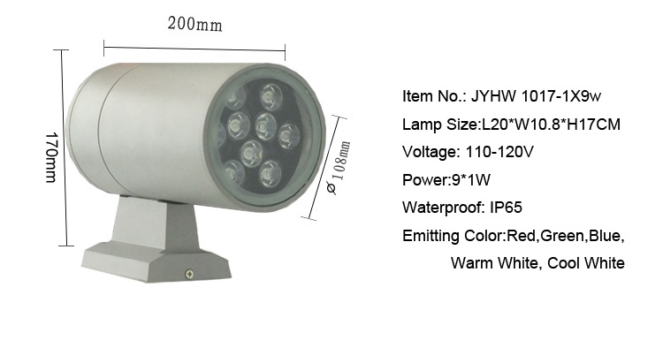 ФОТО Led outdoor wall lamps 9w ip65  super led wall light  porch columbia outdoor porch lights garden downlight   220v 1017-1x9
