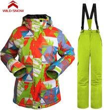 Wild Snow Women Ski Suit Winter Warm Waterproof Skiing Suit Sets Snow Jackets Pants Snowboard Ski Clothing Set Sportswear