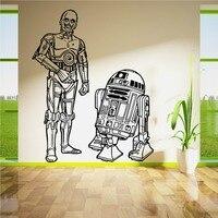Star Wars R2D2 en C3PO Droids duo SET Vinyl Wall Art Sticker Woonkamer Gebogen Movie Muurtattoo DIY Decoratie Muurschildering D-37