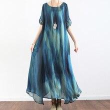 Оригинальное летнее женское платье с длинным рукавом и принтом, женское шелковое цветочное богемное женское свободное пляжное дышащее длинное платье, 2 предмета в комплекте