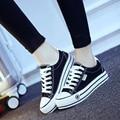 {D & H} Марка Обувь Классические Женские туфли Толстые Платформы холст обувь женская мода узелок повседневная обувь для женщин Сплошной Цвет