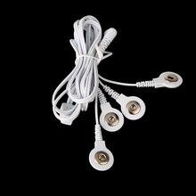 2 unids/lote Cables de Conexión de 2.5 MM 4 en 1 Jefe alambres de electrodo para DECENAS Digital Terapia Máquina Masaje