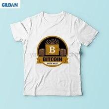 1b47b46b Bitcoin integrated circuit board design t shirt men 2018 new white casual  soft tshirt homme BTC