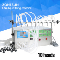 ZONESUNE 10 heads Digital Control Pump Liquid perfume water juice essential oil Filling Machine 3 4000ml with 10 heads