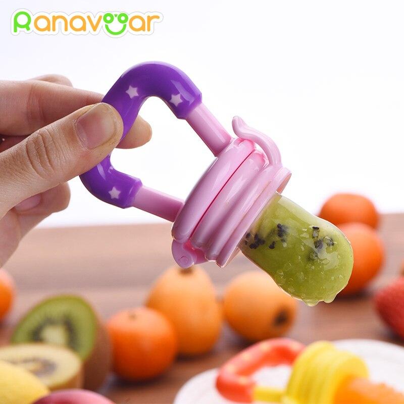 Baby Nipple Fresh Food Fruit Milk Feeding Bottles Nibbler Learn Feeding Drinking Water Straw Handle Teething Pacifier YC7070