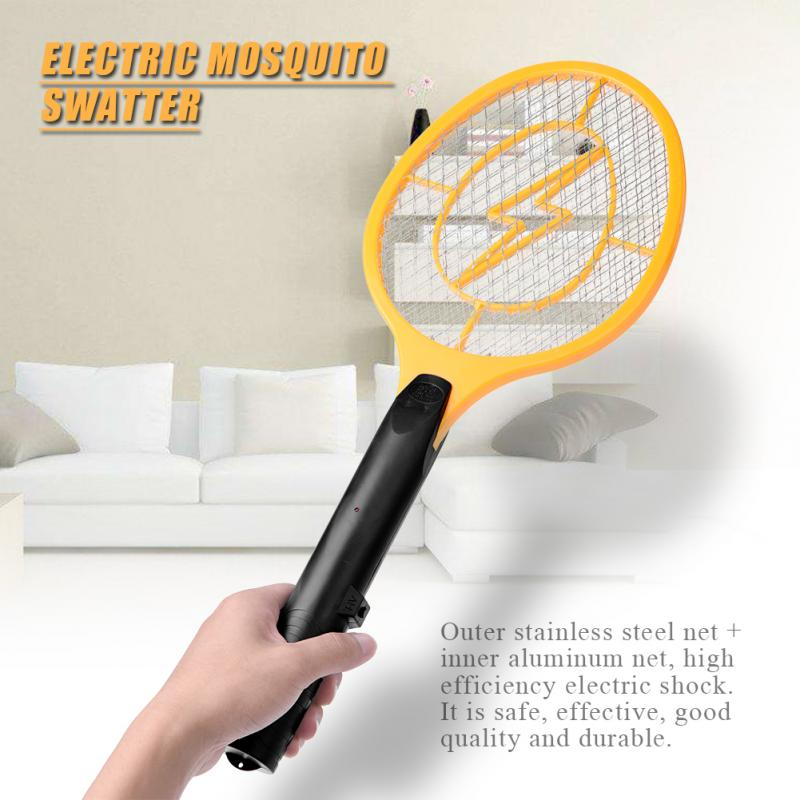 Strong-Willed Hot 2aa Battery Electric Bug Zappers Electronic Mosquito Racket Fly Racket Handled Fly Racket Mosquito Zapper Picnic Bbq Tool Home & Garden Bbq