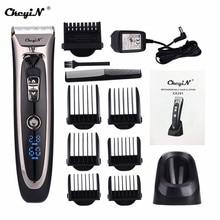 Профессиональная цифровая машинка для стрижки волос перезаряжаемая электрическая машинка для стрижки волос Мужская Беспроводная стрижка регулируемое керамическое лезвие RFC-688B 49