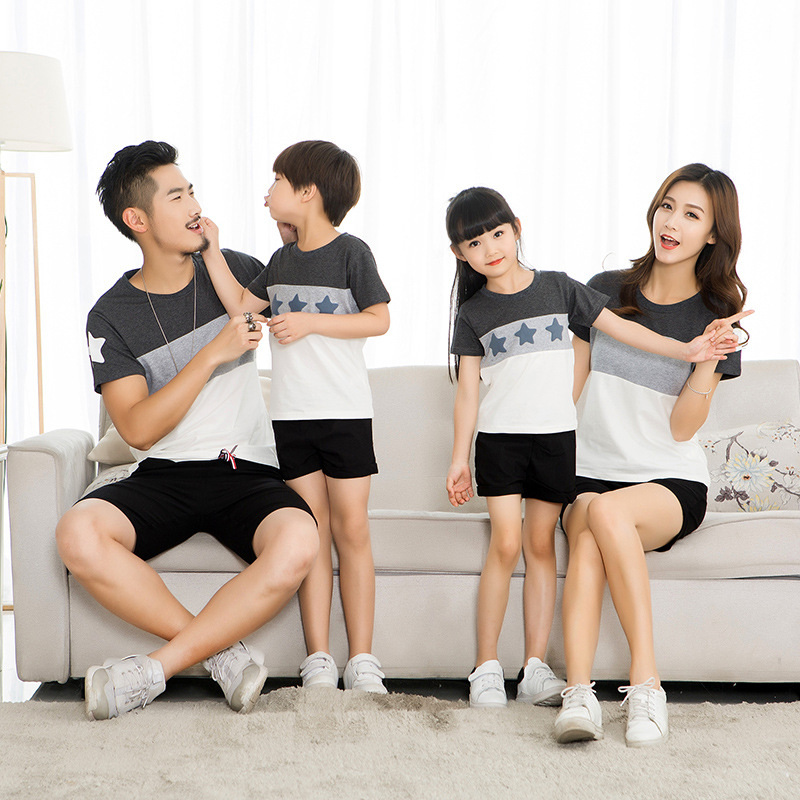 HTB1cDYKdrArBKNjSZFLq6A dVXan - Lovers Suit T Shirt Family Matching Outfits Mother Father Kids Girl Boys Shirts Clothes Mom Dad Son Outfits Family Look Clothing