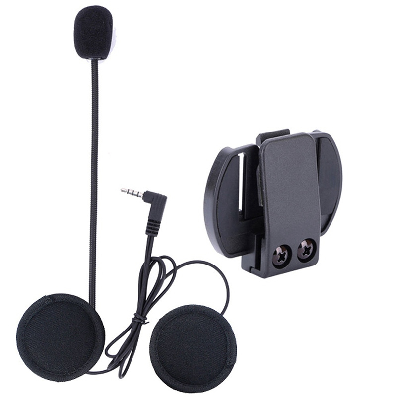 Wired Headset MicSpeaker for V4V6 Motorcycle Bluetooth Helmet Intercom with Clip Intercomunicador Moto Accessories (9)