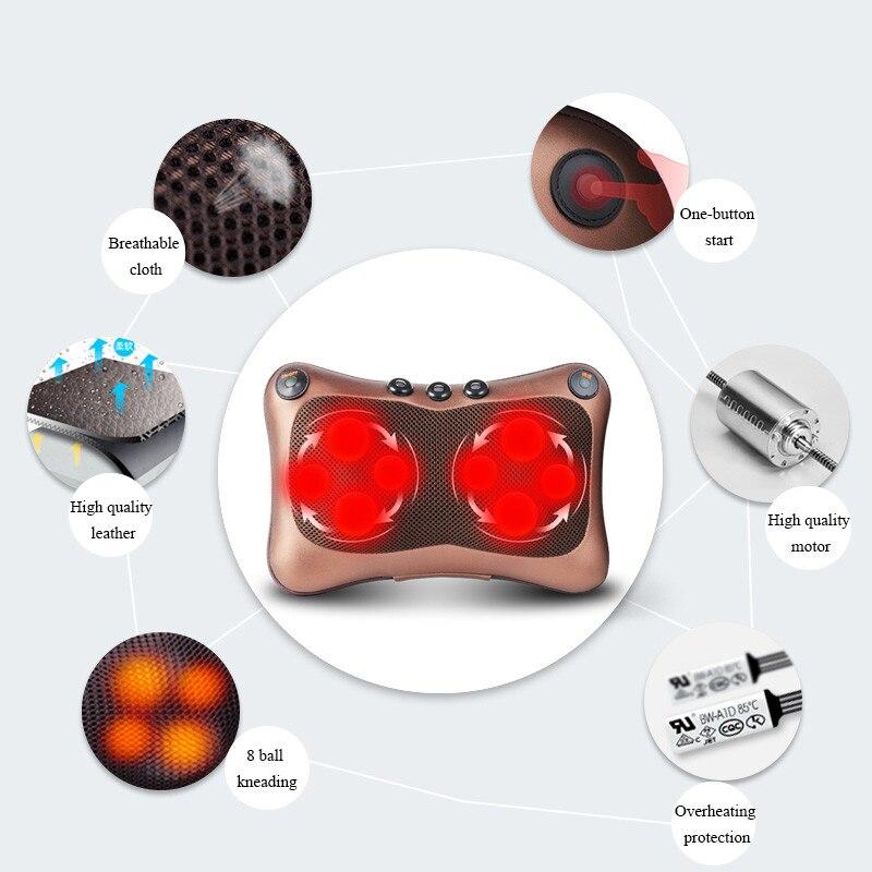 Image 5 - リラクゼーションマッサージ枕バイブレーター電気ショルダーバック指圧加熱混練赤外線療法ネックマッサージ -    グループ上の 美容