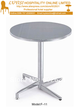 Stainless teel coffee able,stainless steel base and top,kd packing 1pc/carton,fast delivery