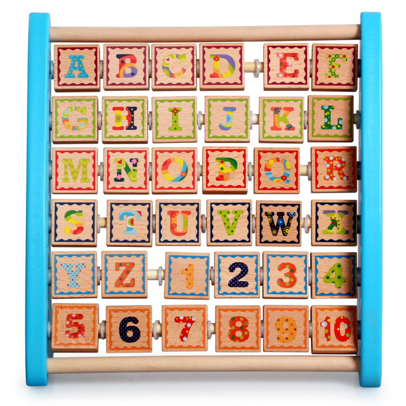 ELC baby wood flap frame letters digitals learning rack wooden ...