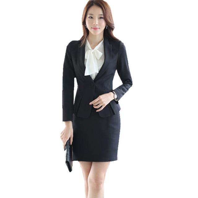 750e26b0b6c9 Fmasuth Autumn Office Formal Skirt Suit Full Sleeve OL Blazer Jacket+White  Shirt+Skirt 3 Pieces Business Suits Ladies ow0372-1