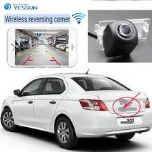 YESSUN samochód hd bezprzewodowy widok z tyłu kamera do Peugeot 301 308 408 508 C5 307 (Hatchback) 307CC 2013 ~ 2015 Night Vision CCD kamery