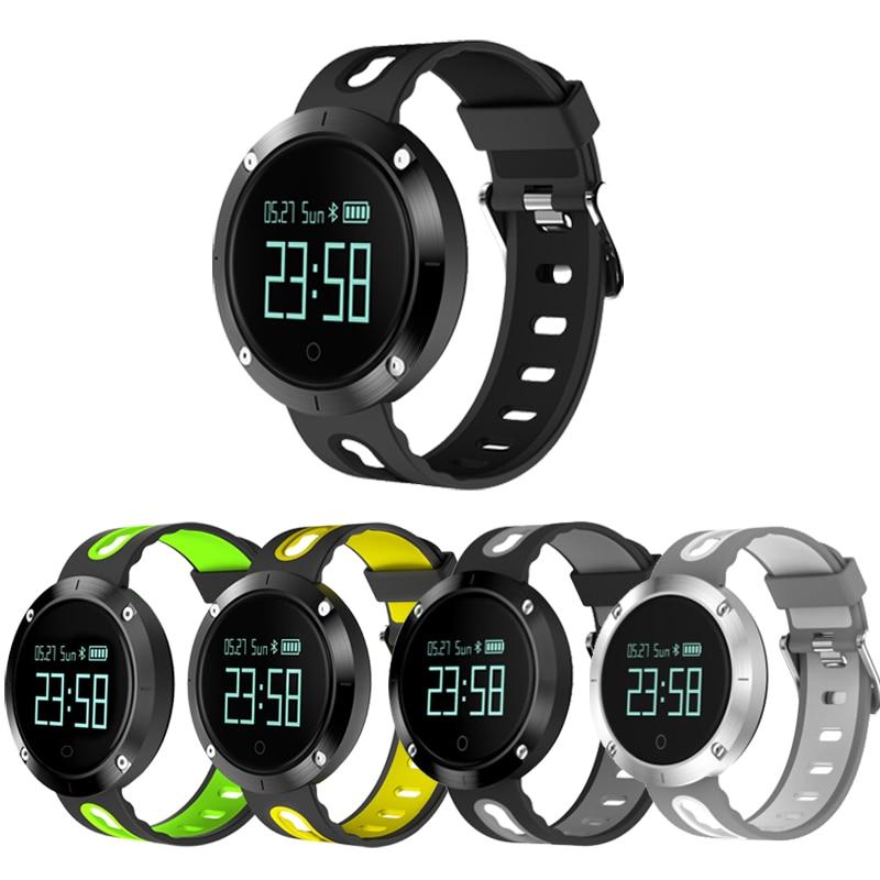 2018 DM-58 DM58 pulzusmérő intelligens óra IP68 vízálló vérnyomás fitneszkövető sportórák az IOS Android órájához