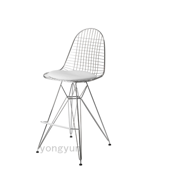 Minimalist Modern Design Metal Steel Wire Creative Dining Chairs Bar Chair  Wire Stool Living Room Counter
