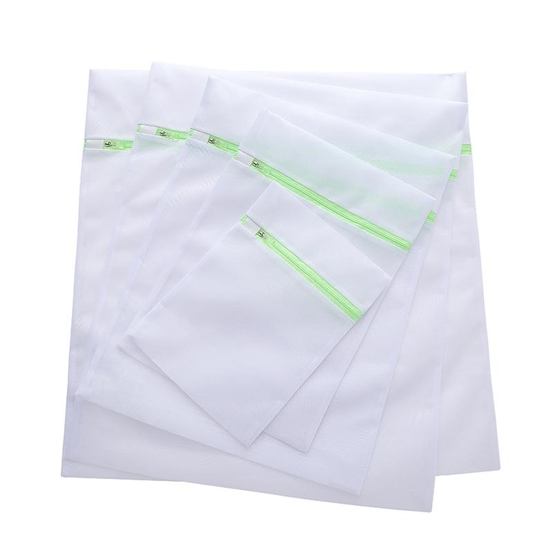Ev ve Bahçe'ten Çamaşır Torbaları ve Sepetleri'de 5 boyutu çamaşır yıkama makinesi çamaşır torbası Sutyen Çorap Iç Çamaşırı Yeşil Renk Fermuarlı Katlanabilir Naylon koruma ağı file çanta'da  Grup 1