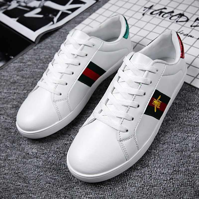 KHRUN  G  large size couple white shoes 2019 low-help flat bottom casual shoes chattering network   white shoes